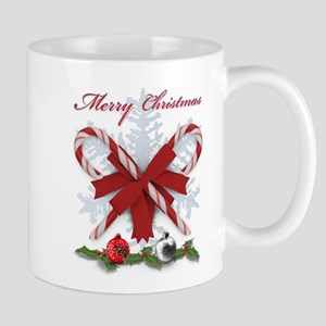 Candy Canes Merry Christmas decorations Mugs