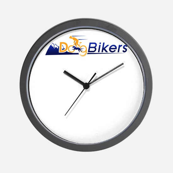 dog bikers Wall Clock