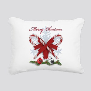 Candy Canes Merry Christ Rectangular Canvas Pillow