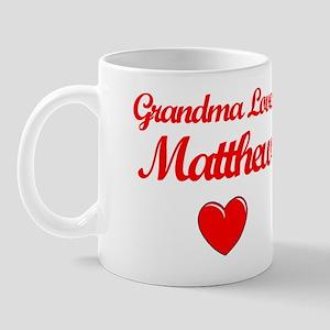 Grandma Loves Matthew Mug