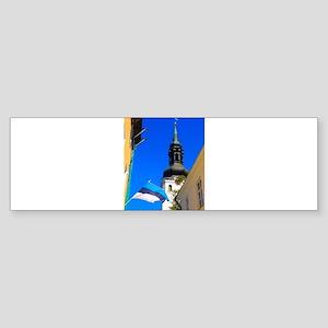 Blue Skies of Estonia Bumper Sticker