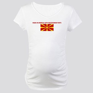 MADE IN AMERICA WITH MACEDONI Maternity T-Shirt