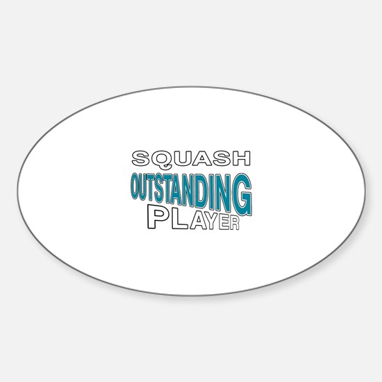 Squash Outstanding Player Sticker (Oval)
