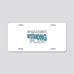 Squash Outstanding Player Aluminum License Plate