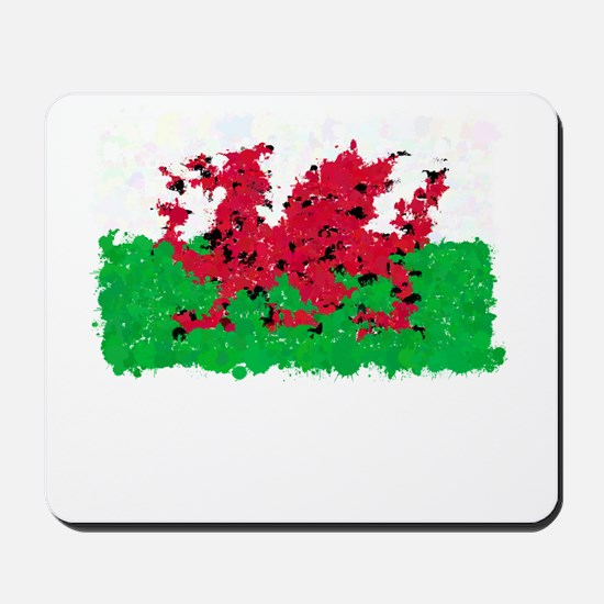 Flag of Wales (Ink Spots) Mousepad