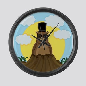 Groundhog day Large Wall Clock