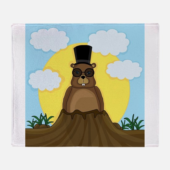 Groundhog day Throw Blanket