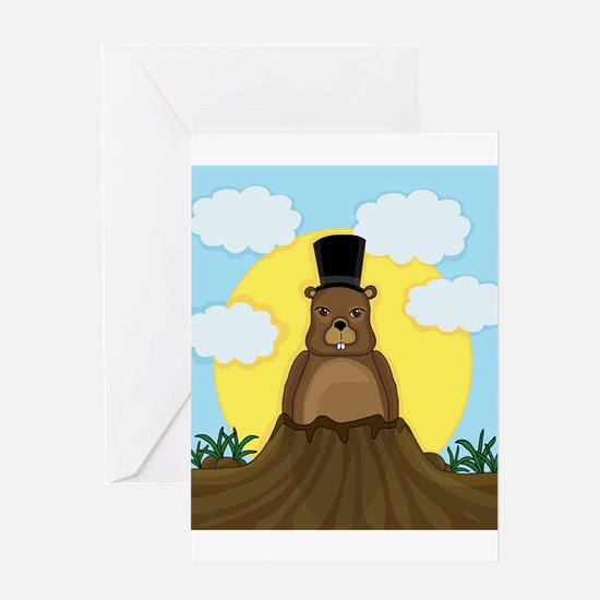 Groundhog day Greeting Cards