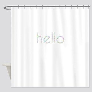 hello (Candies) Shower Curtain