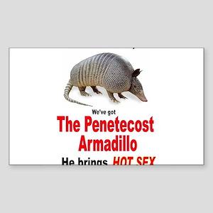 The Pentecost Armadillo Rectangle Sticker