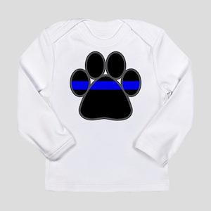 Blue Line K9 Paw Long Sleeve T-Shirt