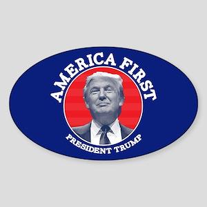 America First Sticker (Oval)