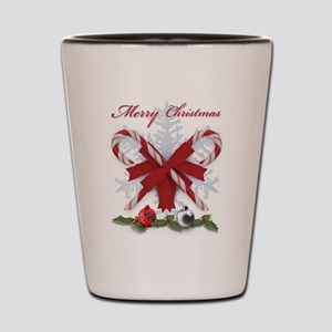 Candy Canes Merry Christmas Shot Glass