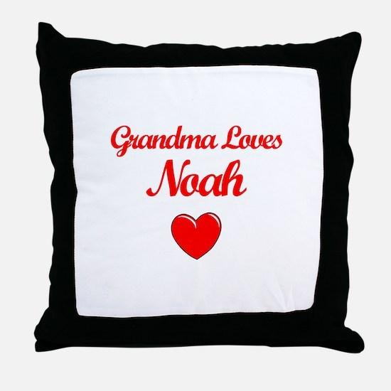 Grandma Loves Noah Throw Pillow