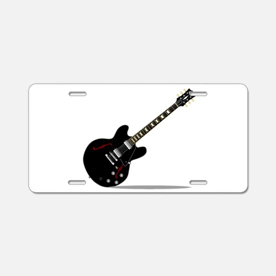 Black Semi Solid Guitar Aluminum License Plate