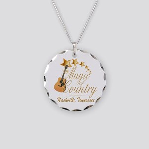 Nashville Magic of Country Necklace Circle Charm