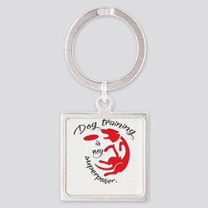 dog tranining is my supperpower Keychains