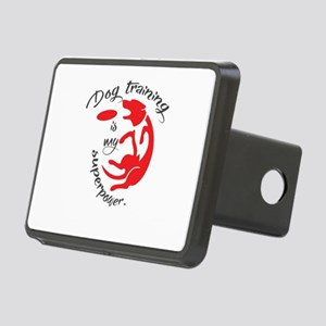 dog tranining is my supper Rectangular Hitch Cover