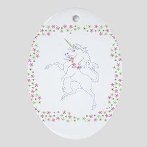 Classic Unicorn Oval Ornament
