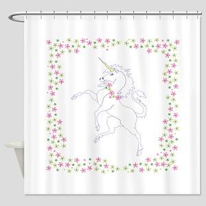 Classic Unicorn Shower Curtain