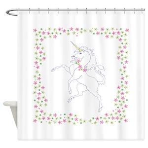 Pink Unicorn Shower Curtains