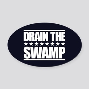 Drain the Swamp Oval Car Magnet