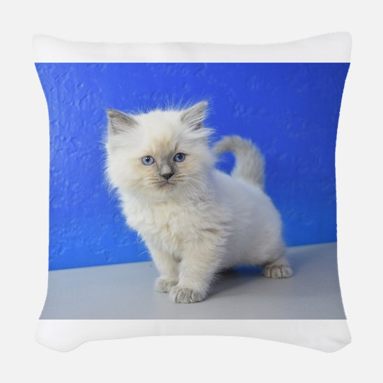 Kissy - Ragdoll Kitten Blue Point Woven Throw Pill