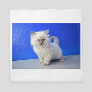 Kissy - Ragdoll Kitten Blue Point Queen Duvet