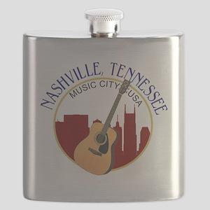Nashville, TN Music City USA-RD Flask