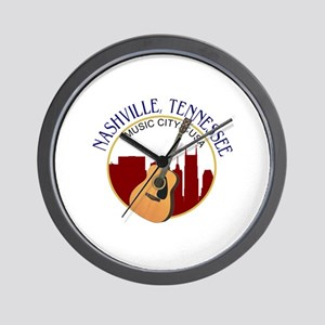 Nashville, TN Music City USA-RD Wall Clock