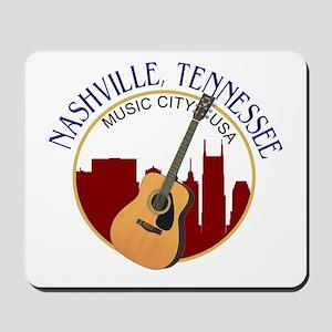 Nashville, TN Music City USA-RD Mousepad