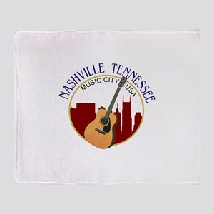 Nashville, TN Music City USA-RD Throw Blanket
