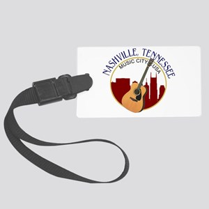 Nashville, TN Music City USA-RD Large Luggage Tag
