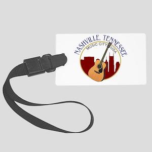 Nashville, TN Music City USA-RD Large Luggage Tag