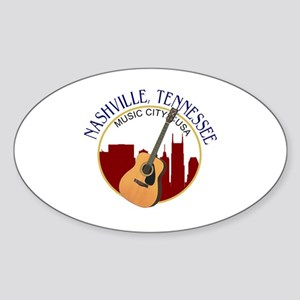 Nashville, TN Music City USA-RD Sticker