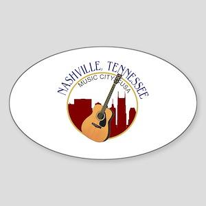 Nashville, TN Music City USA-RD Sticker