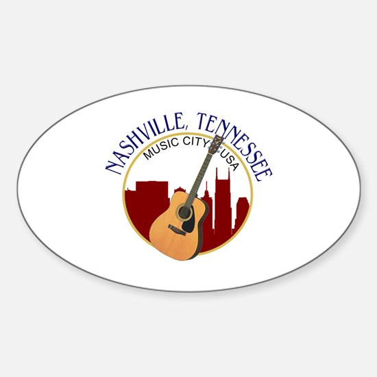 Nashville, TN Music City USA-RD Decal
