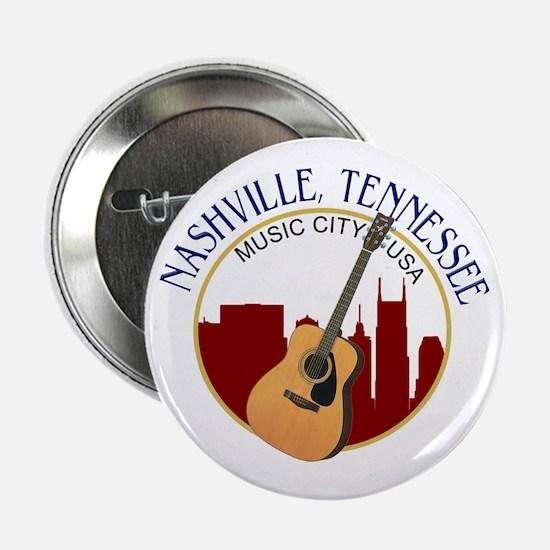 "Nashville, TN Music City US 2.25"" Button (10 pack)"