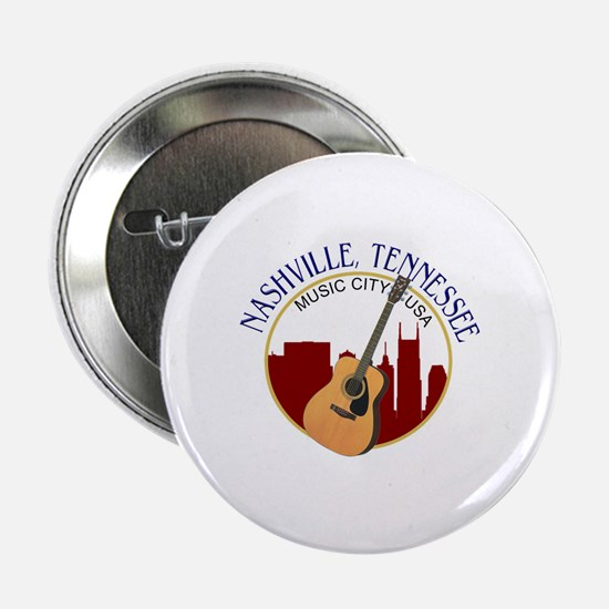 "Nashville, TN Music City USA-RD 2.25"" Button"