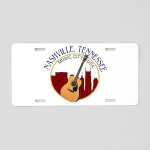 Nashville, TN Music City US Aluminum License Plate
