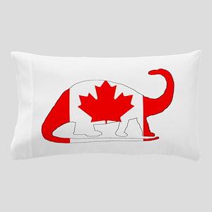 """Brontosaurus """"Canada"""" Pillow Case"""