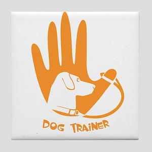 dog trainer Tile Coaster