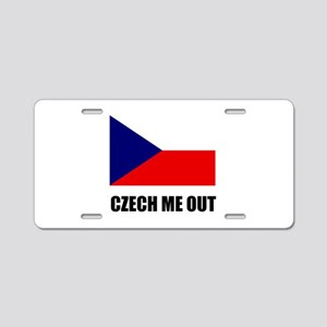 Czech Me Out Aluminum License Plate