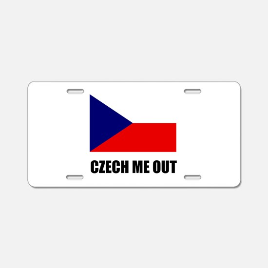Czech Me Out Aluminum License Plate