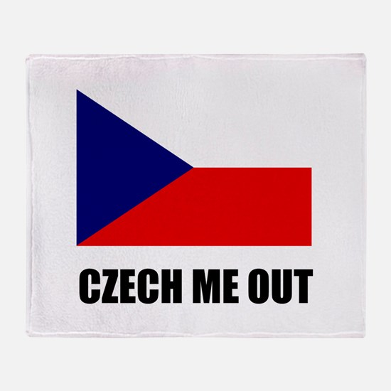 Czech Me Out Throw Blanket