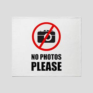 No Photos Please Throw Blanket