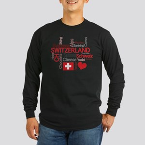 Switzerland - Favorite Swiss Things Long Sleeve T-