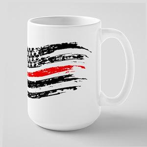 firefighter distress flag Mugs