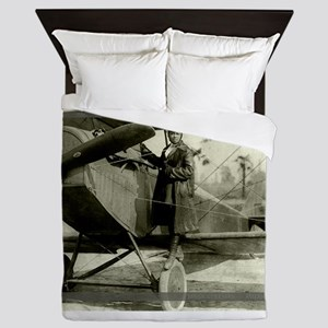 Bessie Coleman Civil Aviator Queen Duvet