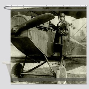 Bessie Coleman Civil Aviator Shower Curtain